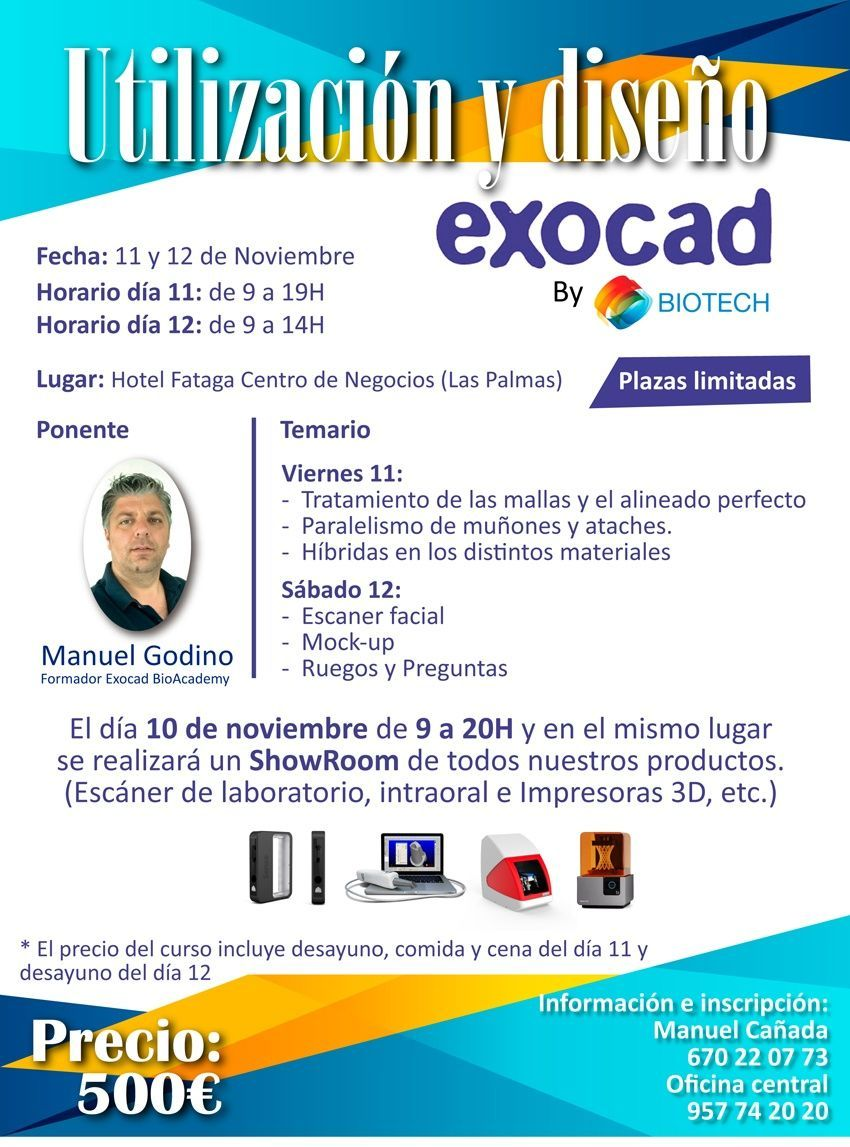 Curso Utilización y Diseño Exocad (Las Palmas)