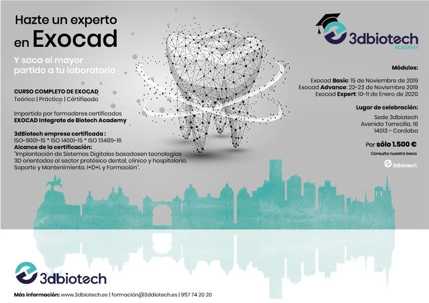 Curso Expert Exocad®   10-11 de Enero (Córdoba) @ Sede 3DBiotech