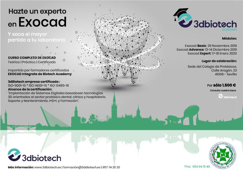 Curso Expert Exocad®   17-18 de Enero (Sevilla) @ Sede del Colegio de Protésicos